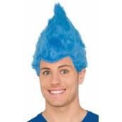 Blue Adult Fuzzy Wig
