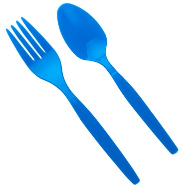Blue Forks & Spoons (8 each)