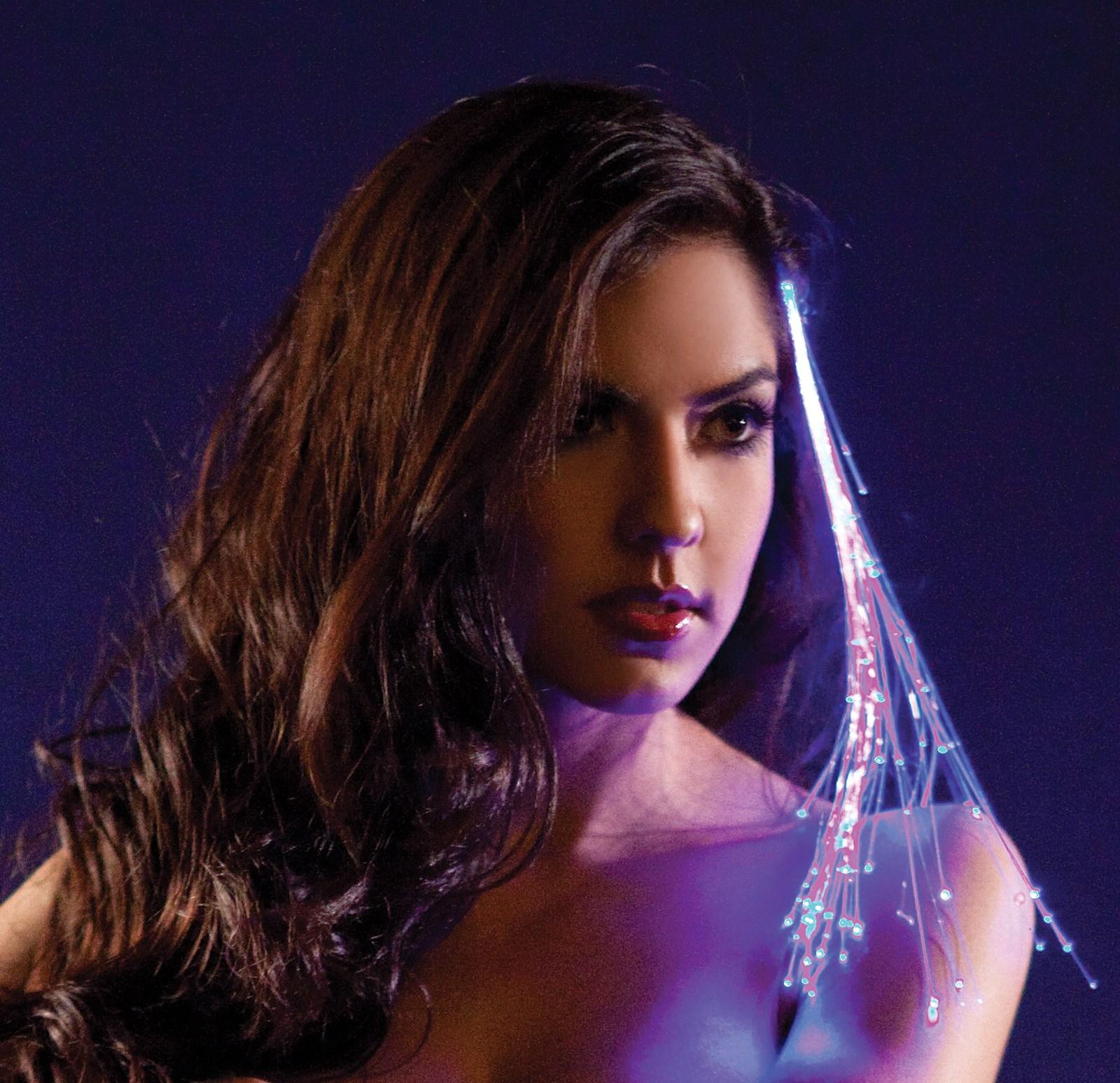 Blue Light Up Hairclip For Girls