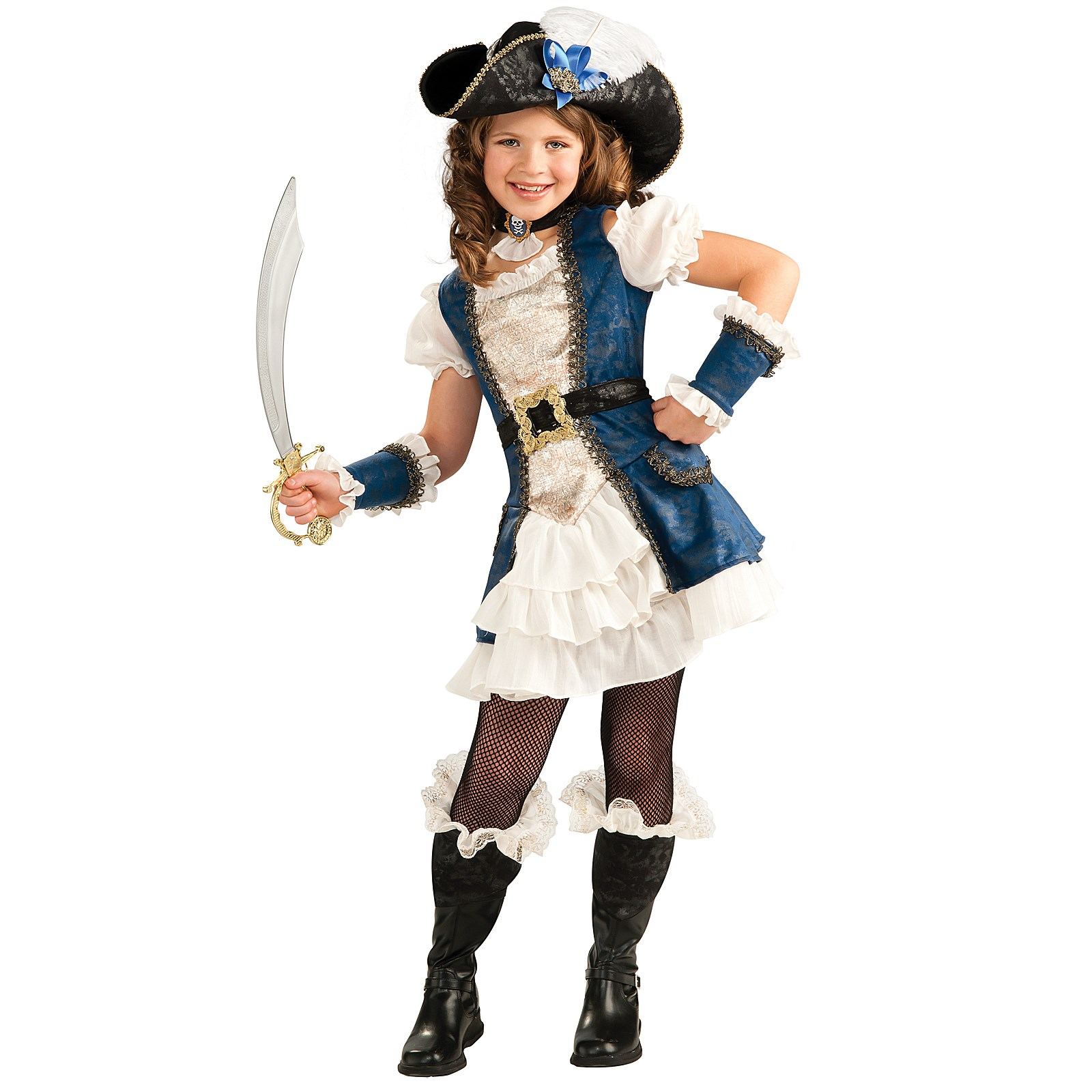 Blue Pirate Girl Child Costume | BuyCostumes.com
