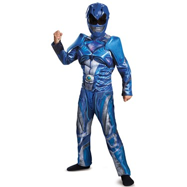 Blue Ranger Movie 2017 Classic Muscle Child Costume