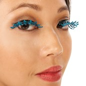 Blue Spiderweb Eyelashes
