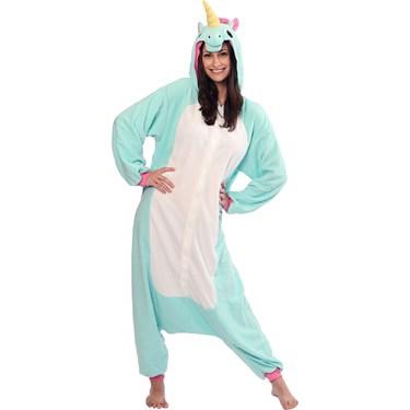 Blue Unicorn Kigurumi Teen Costume