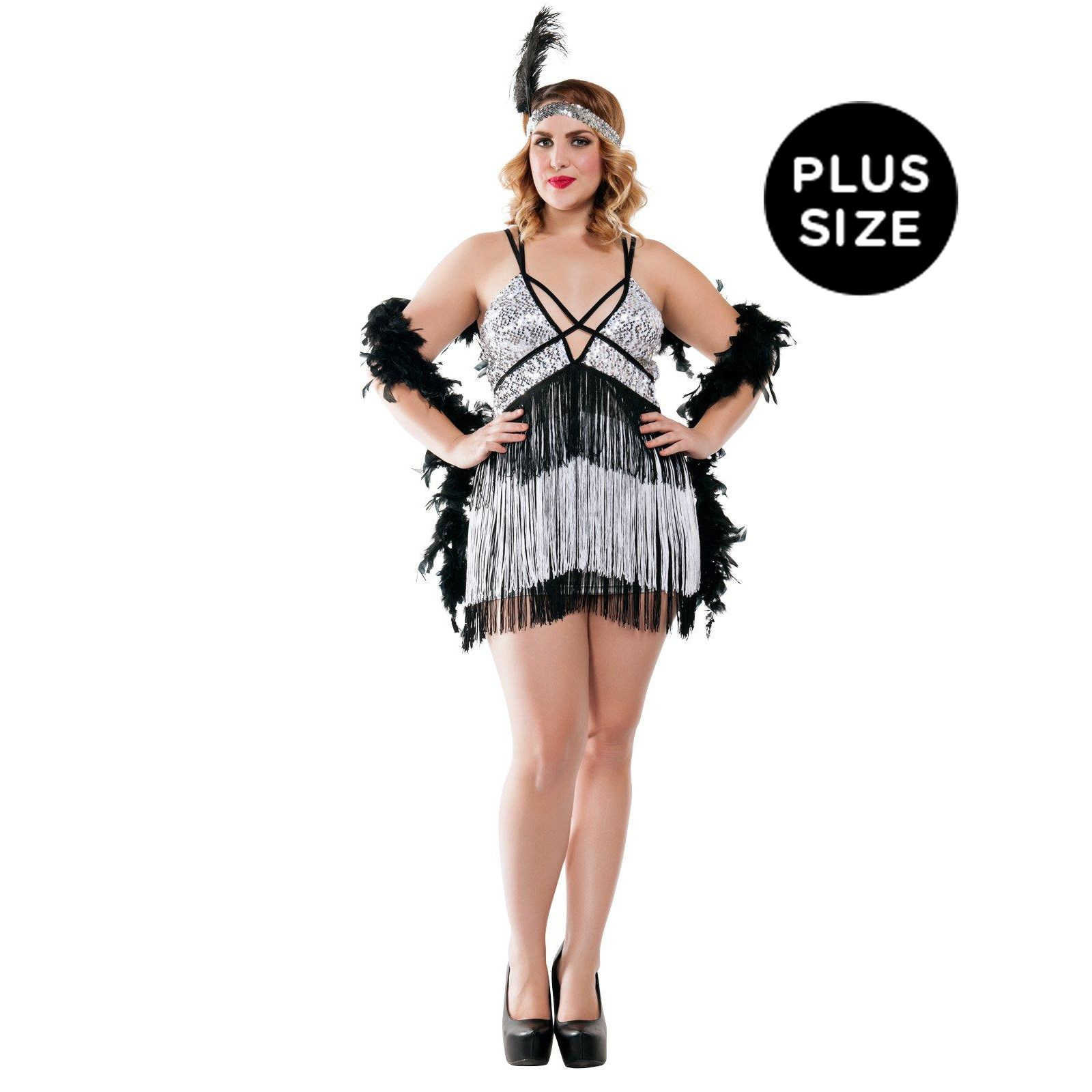Boardwalk Flapper Costume for Plus Size Women | BuyCostumes.com