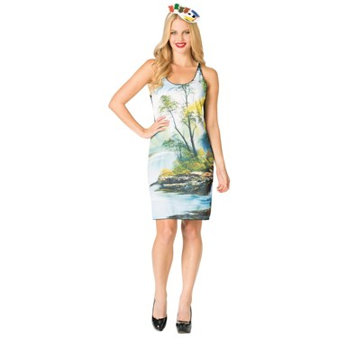 Bob Ross Painting Tank Dress Women's Costume