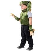 Boys Green T-Rex Dino Vest Costume