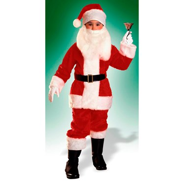 Boys Plush Santa Suit