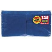 Bright Royal Blue Big Party Pack - Beverage Napkins (125 count)