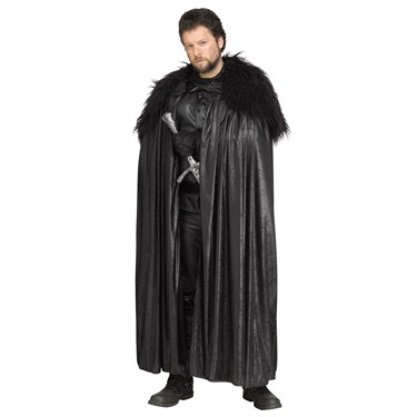 Black Adult Cape with Fur