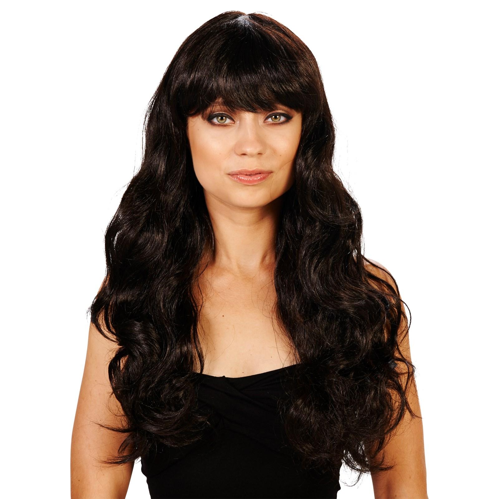 brunette bangs
