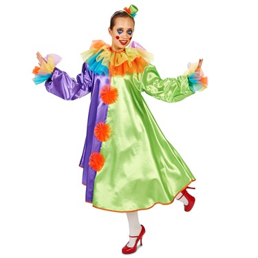 Bubble Clown Dress Adult Costume