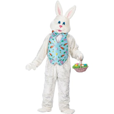 Bunny with Blue Vest Deluxe Adult Costume