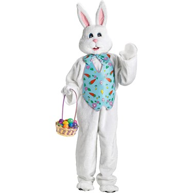 Bunny with Blue Vest Plus Size Deluxe Adult Costume