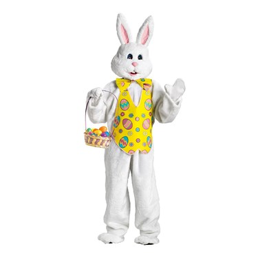 Bunny with Yellow Vest Deluxe Adult Costume