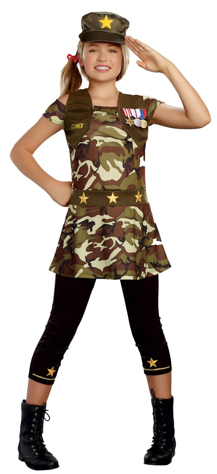 Cadet Cutie Costume For Tweens