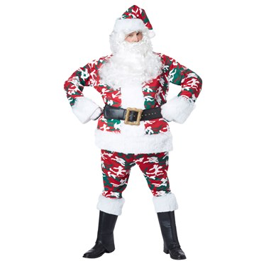 Camoflage Santa Adult Costume