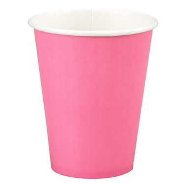 Candy Pink (Hot Pink) 9 oz. Cups (24 count)
