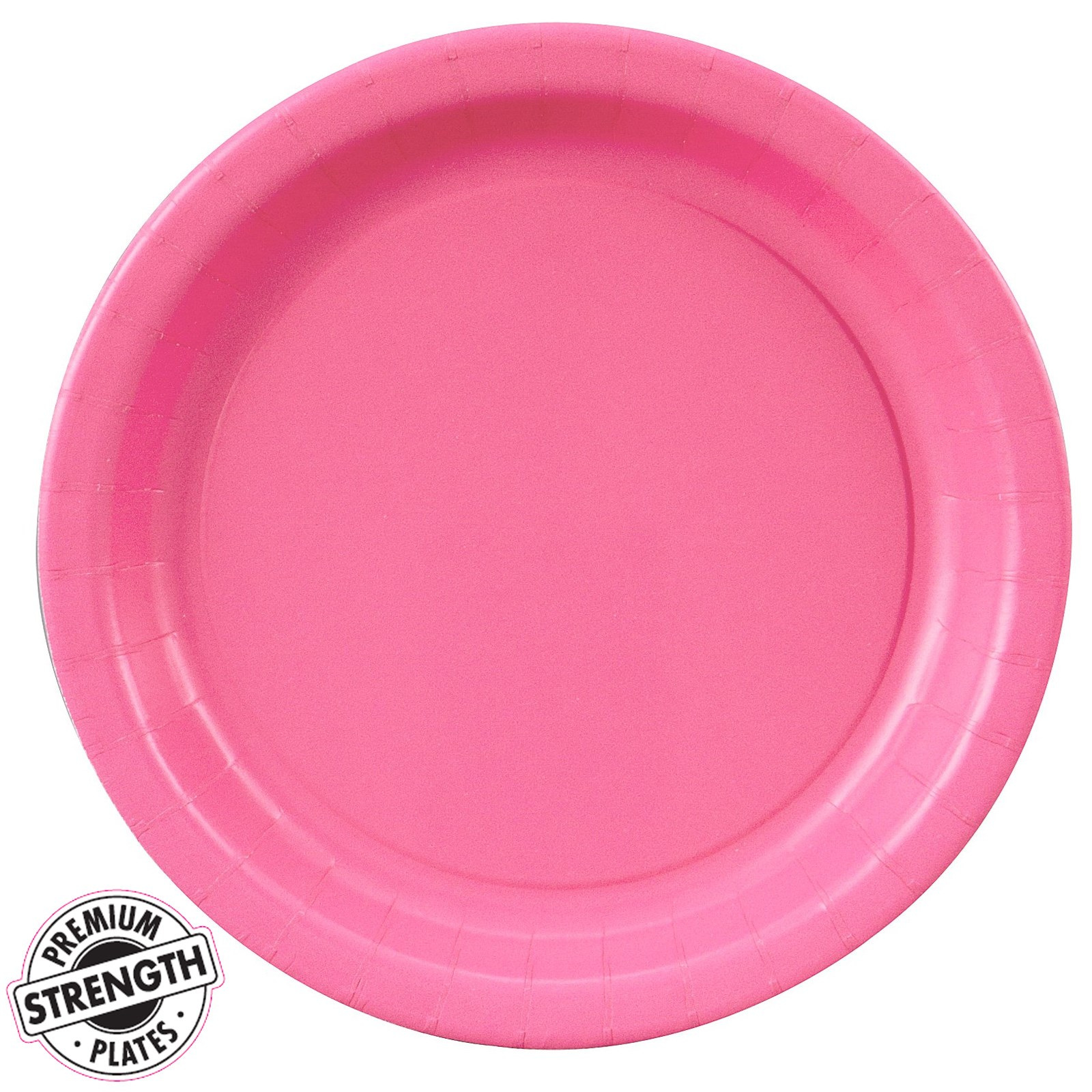 candy pink hot pink dessert plates 24 count. Black Bedroom Furniture Sets. Home Design Ideas