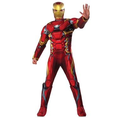 Captain America Civil War - Iron Man Deluxe Adult Muscle Costume
