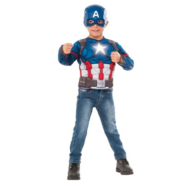 Captain America Light Up Child Costume