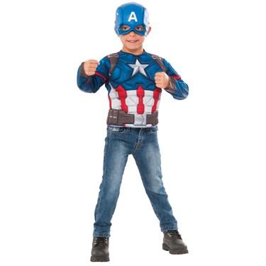 Captain America Muscle Chest Shirt Set