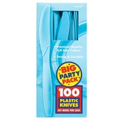 Caribbean Blue Big Party Pack - Knives (100 count)