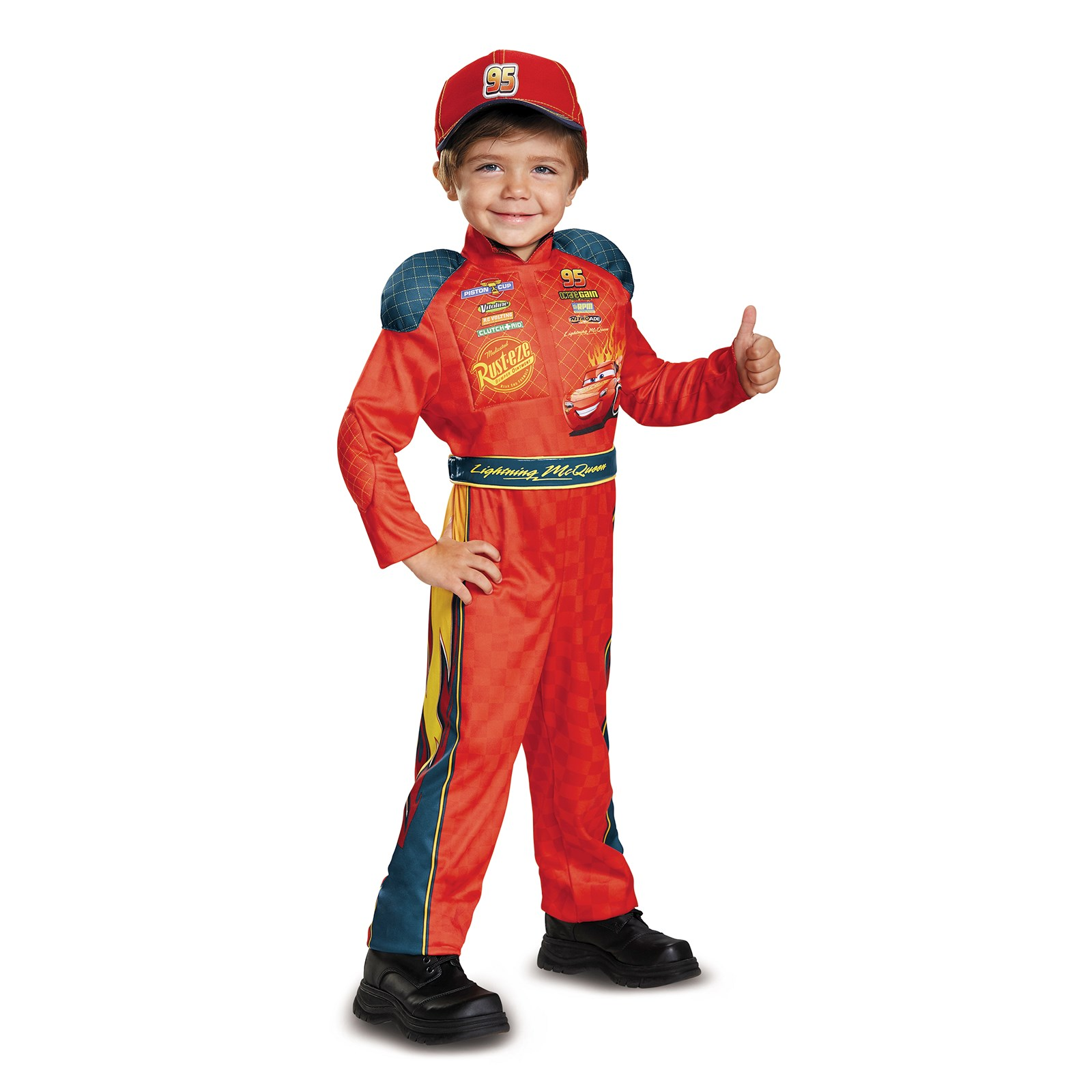 Cars 3 - Lightning Mcqueen Classic Toddler Costume | BuyCostumes.com