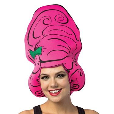 Cartoon Wig - Beehive Pink