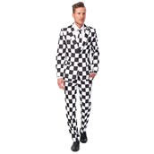 Checked Black White Suitmeister Adult Costume