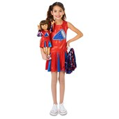 Cheer Team Child Costume M (8-10) with Matching 18 Doll Costume