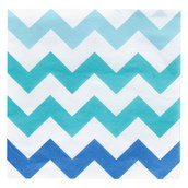 Chevron Blue Beverage Napkins (20 count)