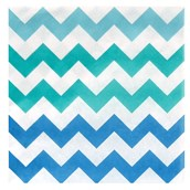 Chevron Blue Lunch Napkins (20 count)