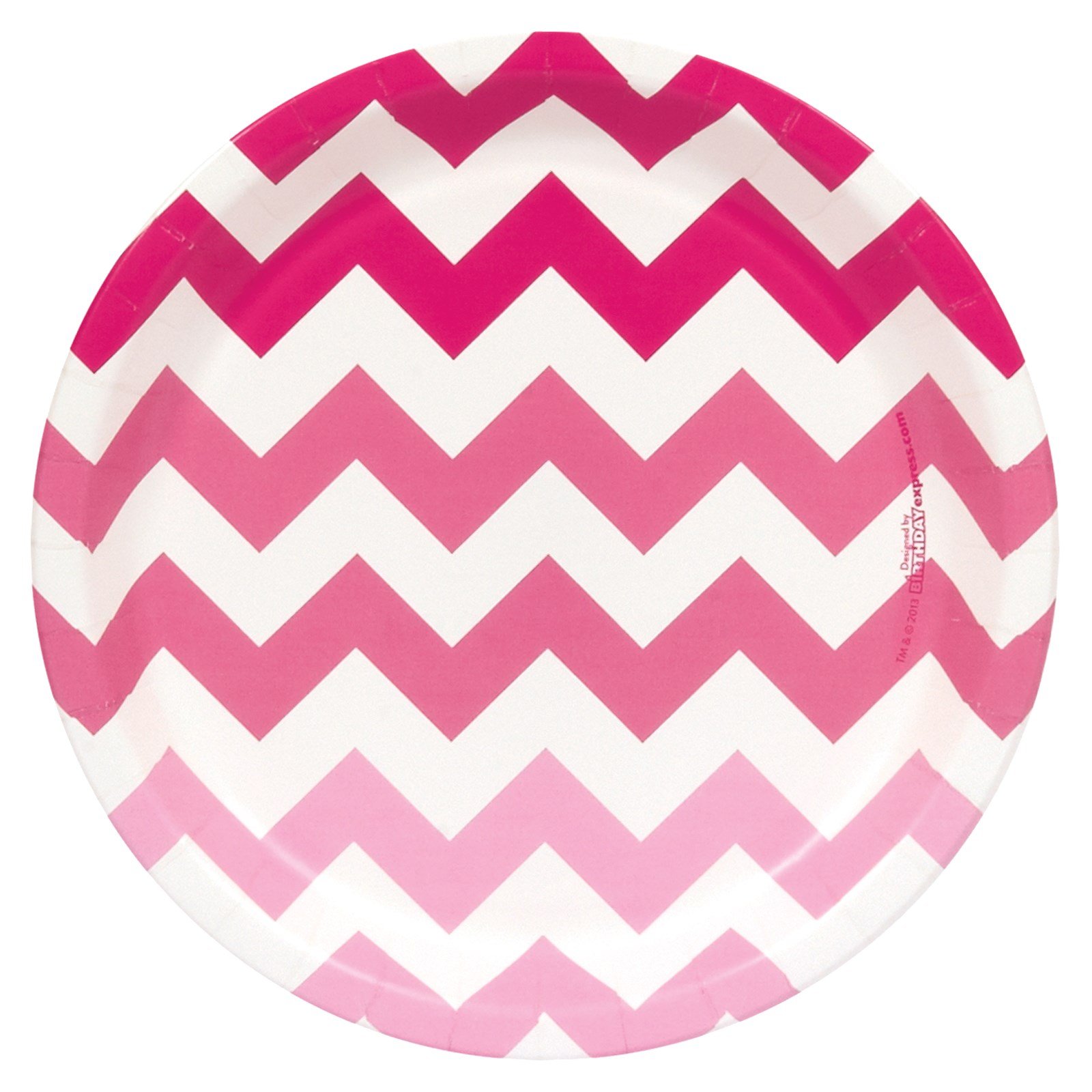 Pink Chevron Cake Plates