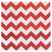 Chevron Red Lunch Napkins(20 count)