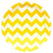Chevron Yellow Dessert Plates (8 count)