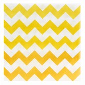 Chevron Yellow Lunch Napkins (20 count)