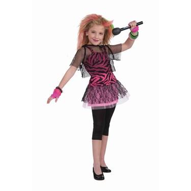 Child 80s Punk Rock Star Girl Costume
