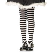 Child (Black/White) Striped Tights