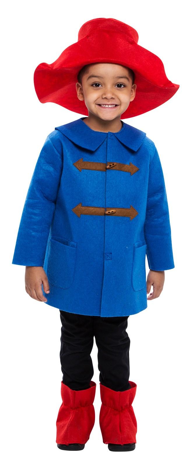 Childrens Blue Coat Bear Costume