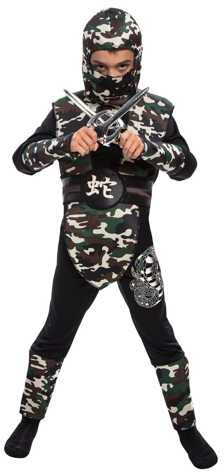 Childrens Camouflage Ninja Costume