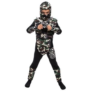 Children's Camouflage Ninja Costume