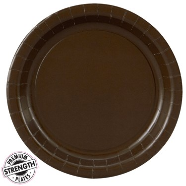Chocolate Brown (Brown) Dessert Plates (24 count)