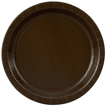 Chocolate Brown (Brown) Dinner Plates (24 count)