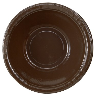 Chocolate Brown (Brown) Plastic Bowls (20 count)