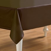 Chocolate Brown (Brown) Plastic Tablecover