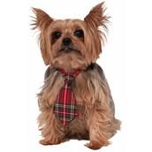 Christmas Plaid Dog Necktie