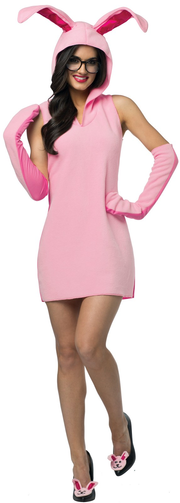 christmas story bunny dress womens costume - Halloween Costume Pink Dress