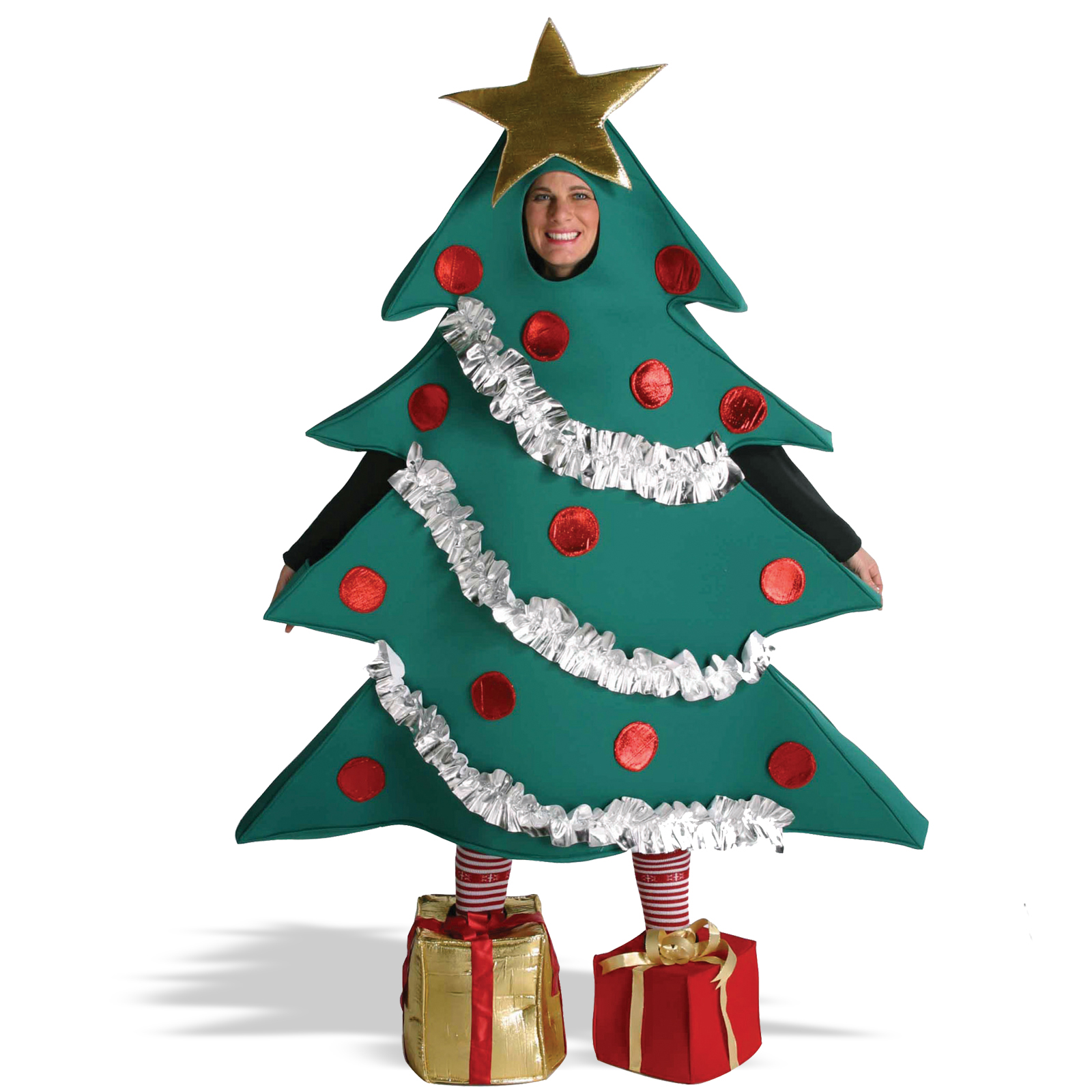 Christmas Tree with Shoe Boxes Adult Costume | BuyCostumes.com