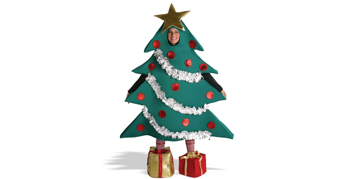 Christmas tree with shoe boxes adult costume buycostumes