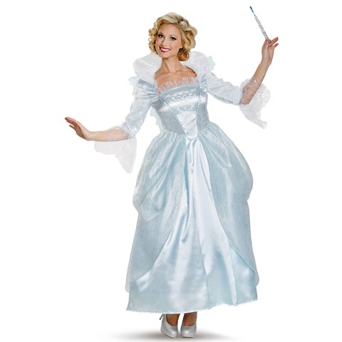 Cinderella Movie: Prestige Plus Size Fairy Godmother Costume For Women